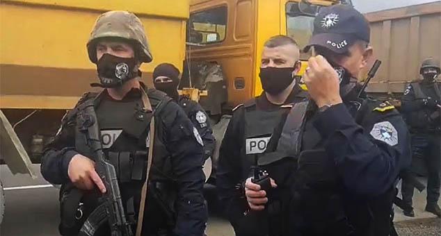 Специјалне јединице наоружаних шиптарских специјалаца на северу Косова и Метохије