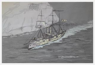 Boceto crucero Reina Mercedes 5