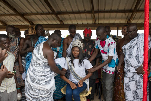 Photos: Miss Universe Ghana 2017, Ruth Quashie Enstooled Nkosuohemaa In The Central Region