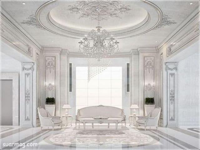 ديكورات جبس اسقف راقيه كلاسيك 4   Classic Gypsum Ceiling 4