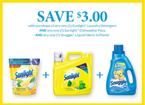 Sunlight & Snuggle $3 Off Coupon