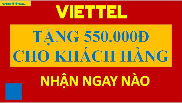 Viettel tặng tiền cho Khách hàng