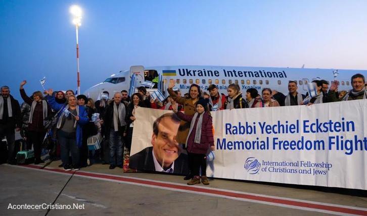 Judíos ucranianos regresan a Israel