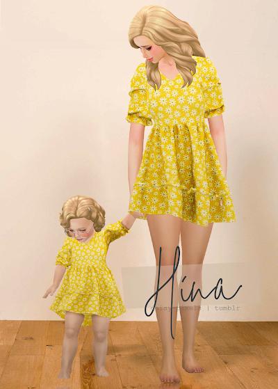 - ̗̀ Hina Dress + Tot Version ̖́- (TS4)