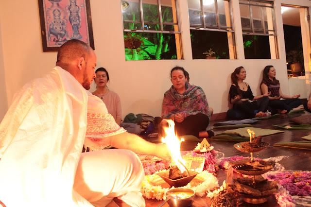Homa, fuego, Meditación, Yoga
