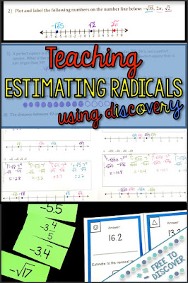 Teaching estimating radicals using discovery
