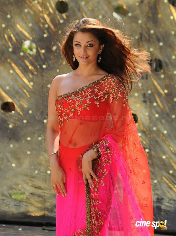 Top Hot and Cute South Indian Actress Wizard: Aishwarya Rai hot navel and boobs