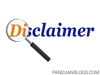 Cara Membuat Halaman Disclaimer untuk Blog