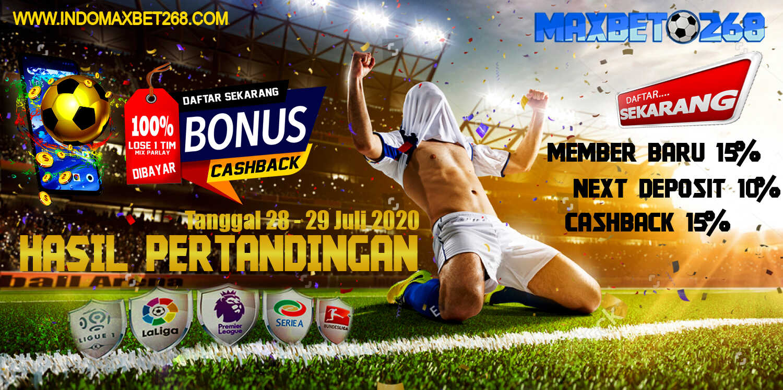 Hasil Pertandingan Sepakbola Tanggal 28 - 29 Juli 2020