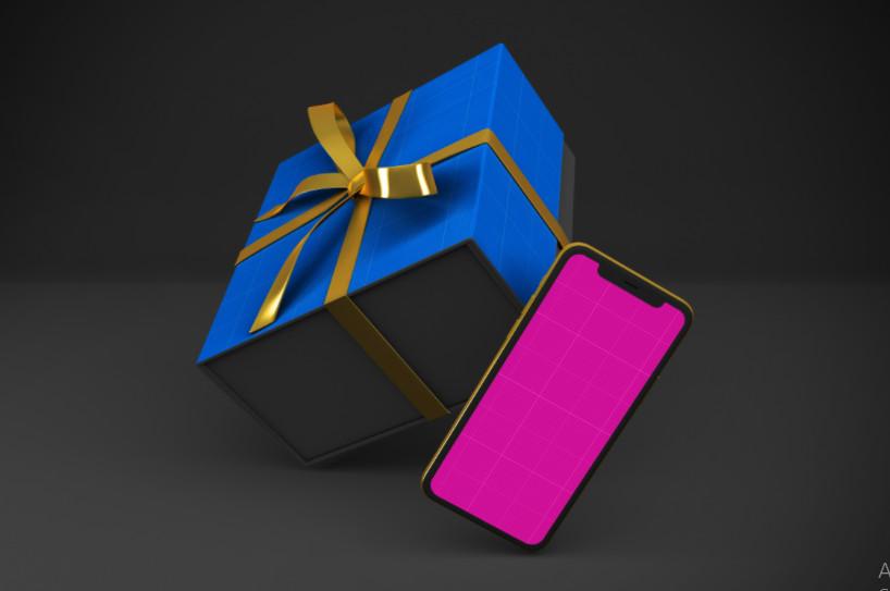 Templates - GraphicRiver - Gold & Dark Shopping App V.1 Mockup - 28759713 [PSD]