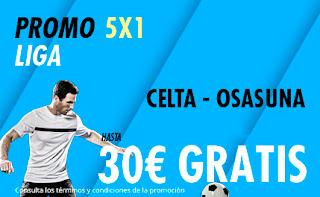 suertia promocion liga Celta vs Osasuna 5 enero 2020