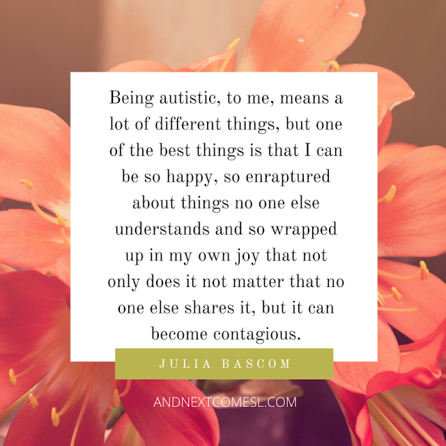 Autism quotes about obsessions from And Next Comes L