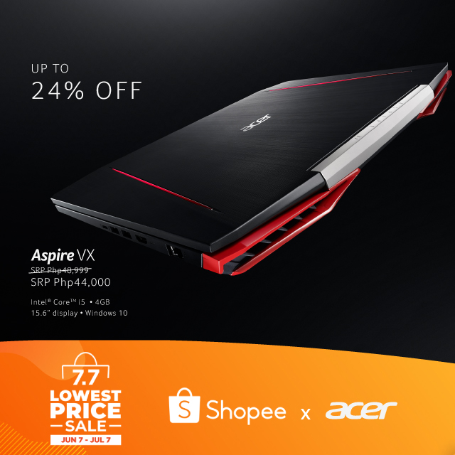 Amazing Deals and Discounts From Acer at Shopee 7.7 Lowest Price Sale