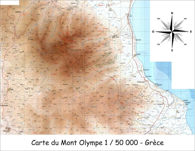 Carte du Mont Olympe - 1 / 50 000