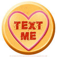 Text Me text on Love Heart sweet free image for texting