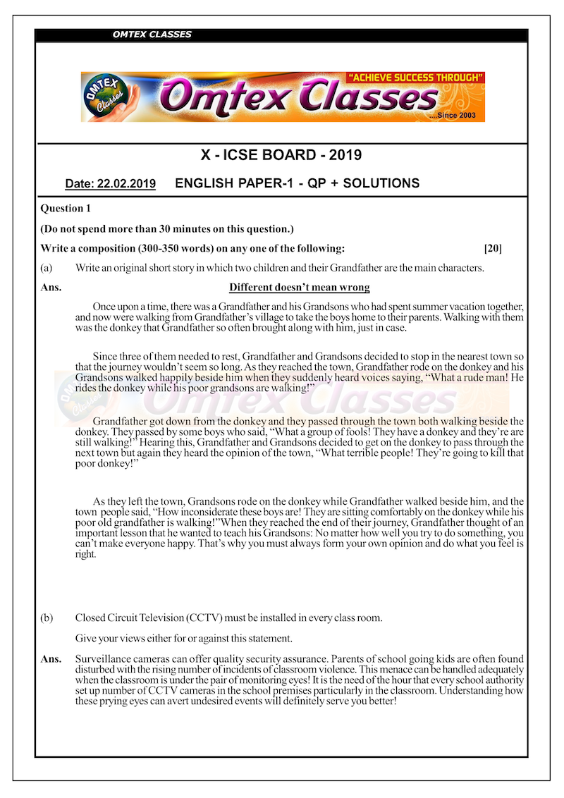 X_ICSE Board_Official_English_(Paper I)_Solutions_[22.02.2019]