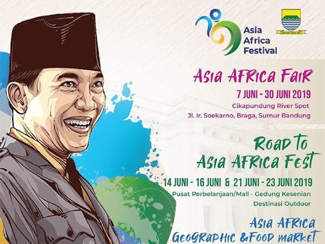Asia Africa Fair Bakal Digelar 7 - 30 Juni 2019 di Jalan Cikapundung Timur