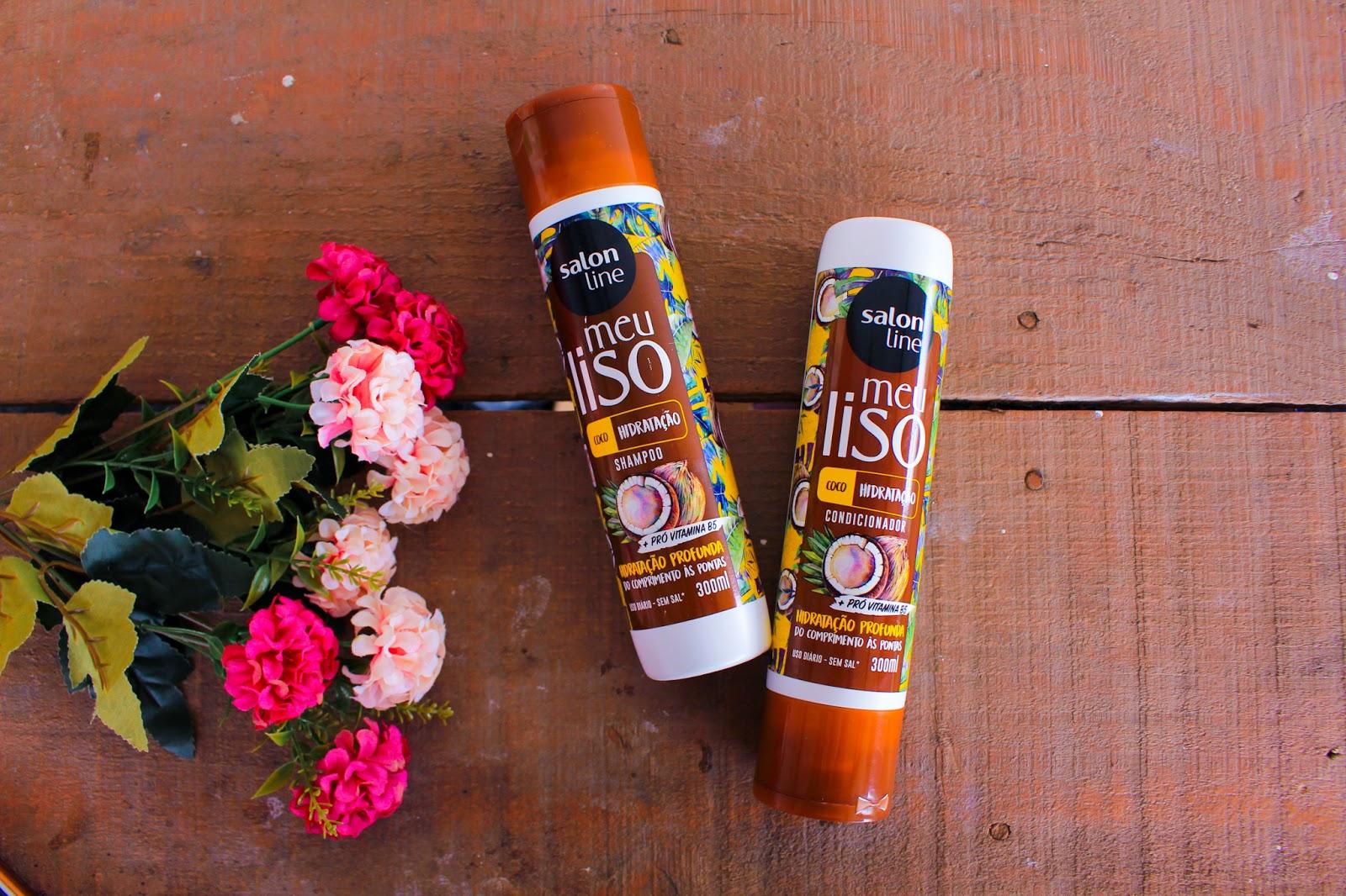 Resenha: Shampoo e Condicionador Meu Liso Coco da Salon Line