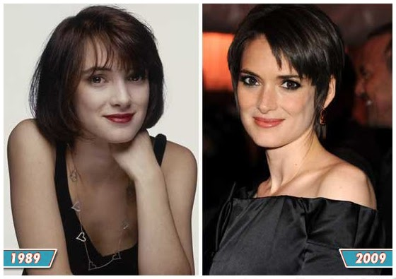 Plastic Surgery Before And After Winona Ryder Nose Job