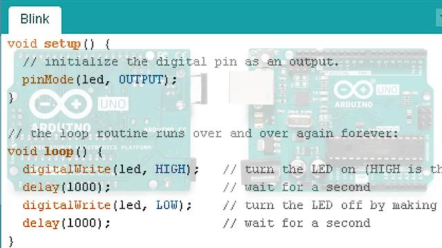 Arduino programming language.