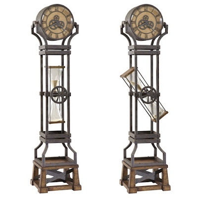 Howard Miller HourGlass Grandfather Clock, Perfect For Steampunk
