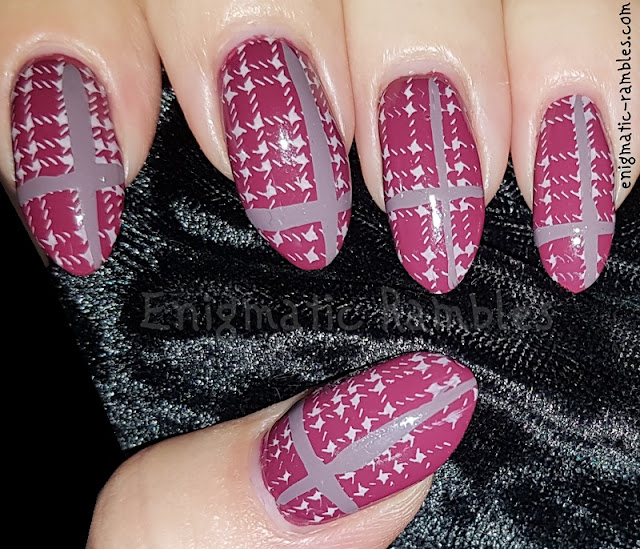 Pink-Autumn-Fall-Tartan-Plaid-Nails-Nail-Art