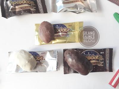 Cokelat Isi Kurma dan Almond adalah produk CHOCODATE Arabian Delights dengan 3 rasa