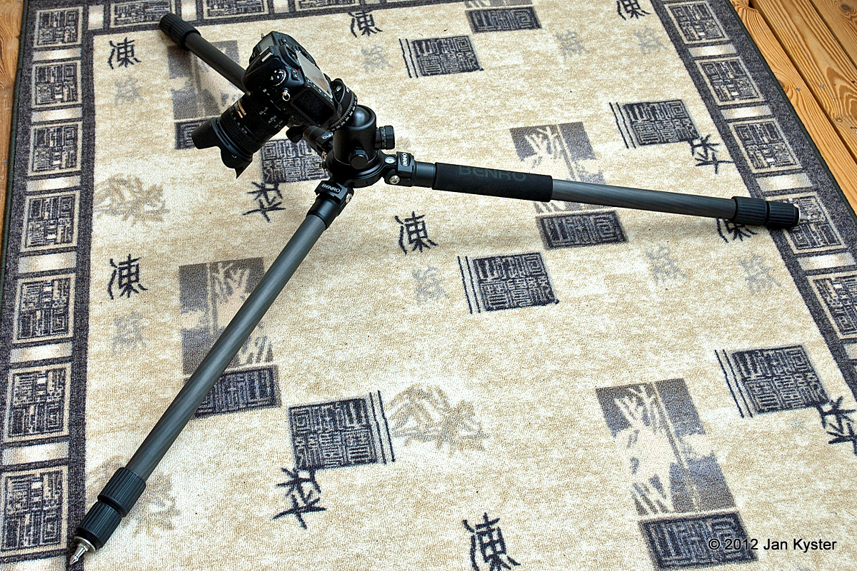 Benro C3770T CF Tripod legs spread lowest
