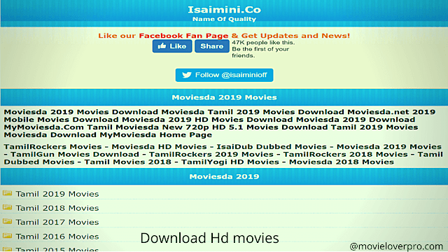 Isaimini Movies Download Website 2020