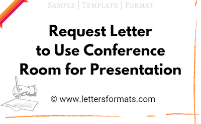 sample letter requesting use of conference room