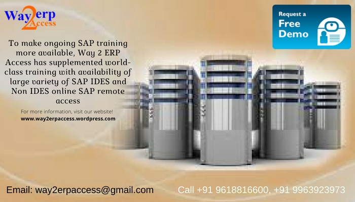 SAP Server Access: Online Remote access to SAP IDES and Non