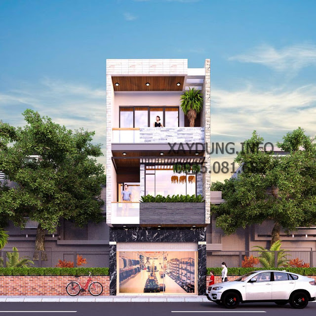 mẫu nhà phố 3 tầng đơn giản hiện đại