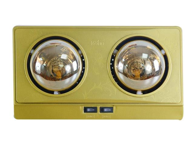 Đèn sưởi nhà tắm 2 bóng Braun Kohn KN02G 550W