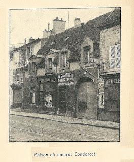 Casa en Bourg-la-reine donde murió Condorcet (1914)