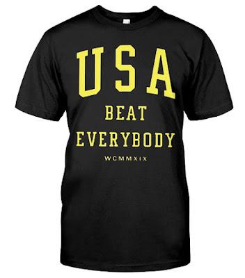 Usa Beat Everybody T Shirts Hoodie Sweatshirt Sweater Tank Tops uswnt Nike Soccer