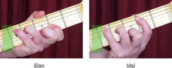 Colocación Correcta de un Acorde de Guitarra