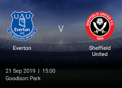LIVE MATCH: Everton Vs Sheffield United Premier League 21/09/2019
