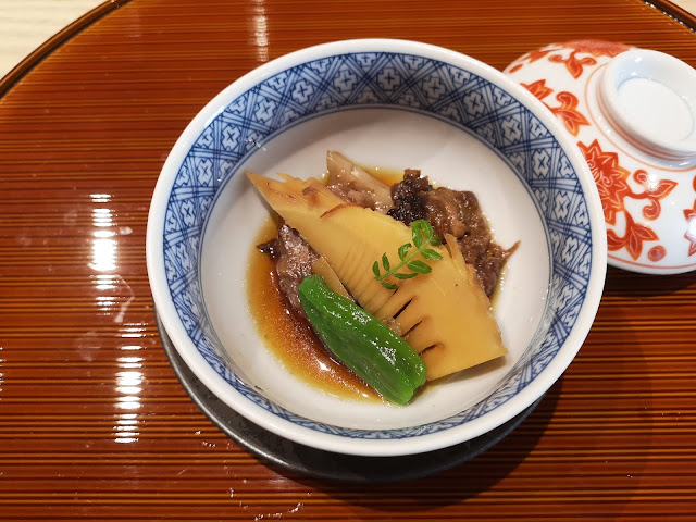 Wagyu with Bamboo Shoot and Bell Pepper