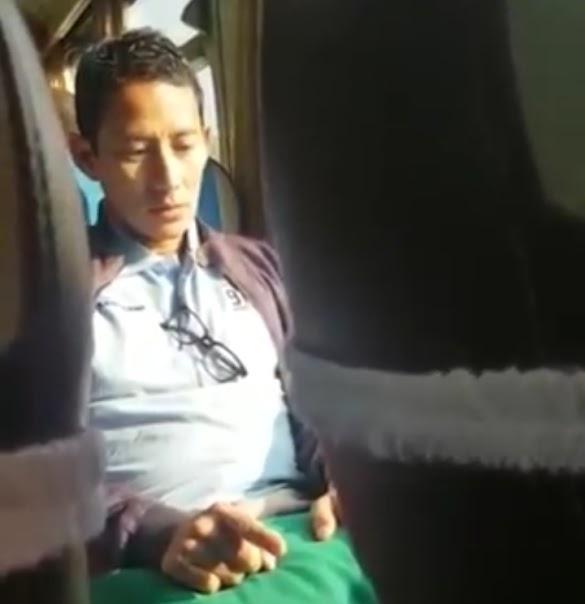 Direkam Warga, Ini Amalan Sandi Di Kereta yang Bikin Bangga Netizen