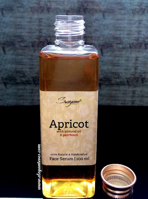 Review of Svayam Natural Apricot Face Serum with Almond Oil and Patchouli