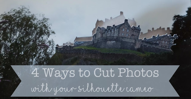 Silhouette Tutorial - 4 ways to cut photos by Nadine Muir including picscan and pattern fill print and cut