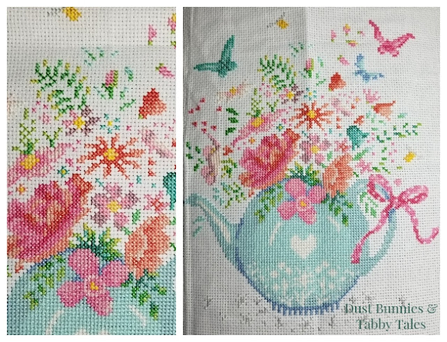 Blooming Teapot Before Backstitch