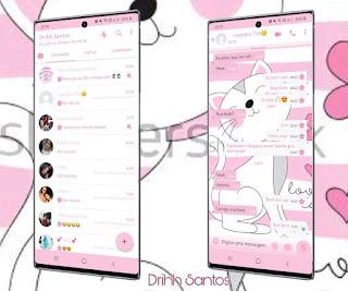 Cat White Theme For YOWhatsApp & Fouad WhatsApp By Driih Santos