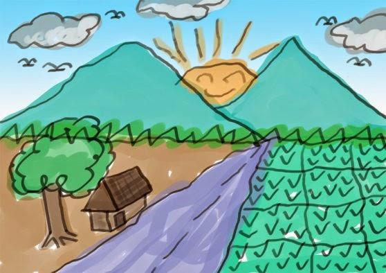 gambar pegunungan indah