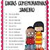 DATAS COMEMORATIVAS - JANEIRO