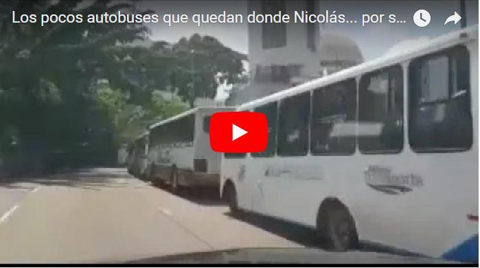 Maduro usó los pocos autobuses que quedaban para transportar a gente falsa