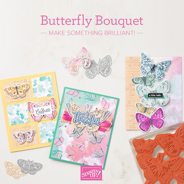 Sample cards using the Butterfly Bouquet Stamp Set from Stampin' Up!