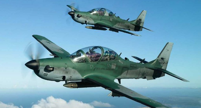 JUST IN: Six Super Tucano jets depart the United States for Nigeria.