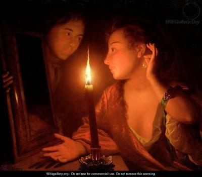 doamna-admirand-un-cercel-la-lumina-lumanarii-godfried-schalken