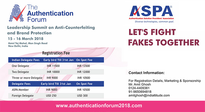 Authentication Forum 2018: International Leadership Summit on Anti-Counterfeiting and Brand Protection